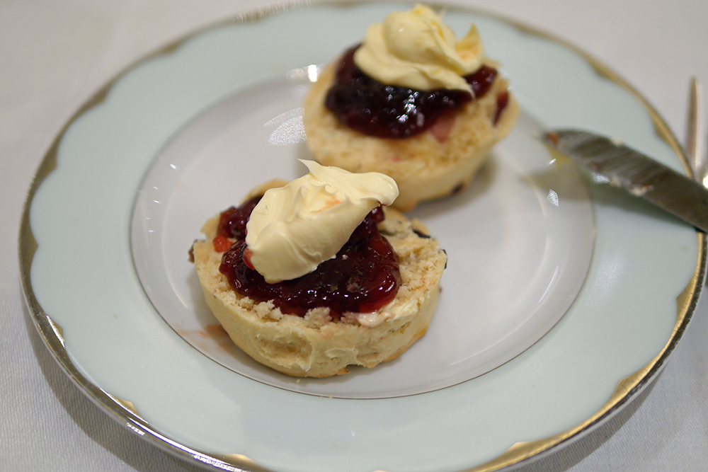 Dorchester Afternoon Tea Scones with Clotted Cream and Jam