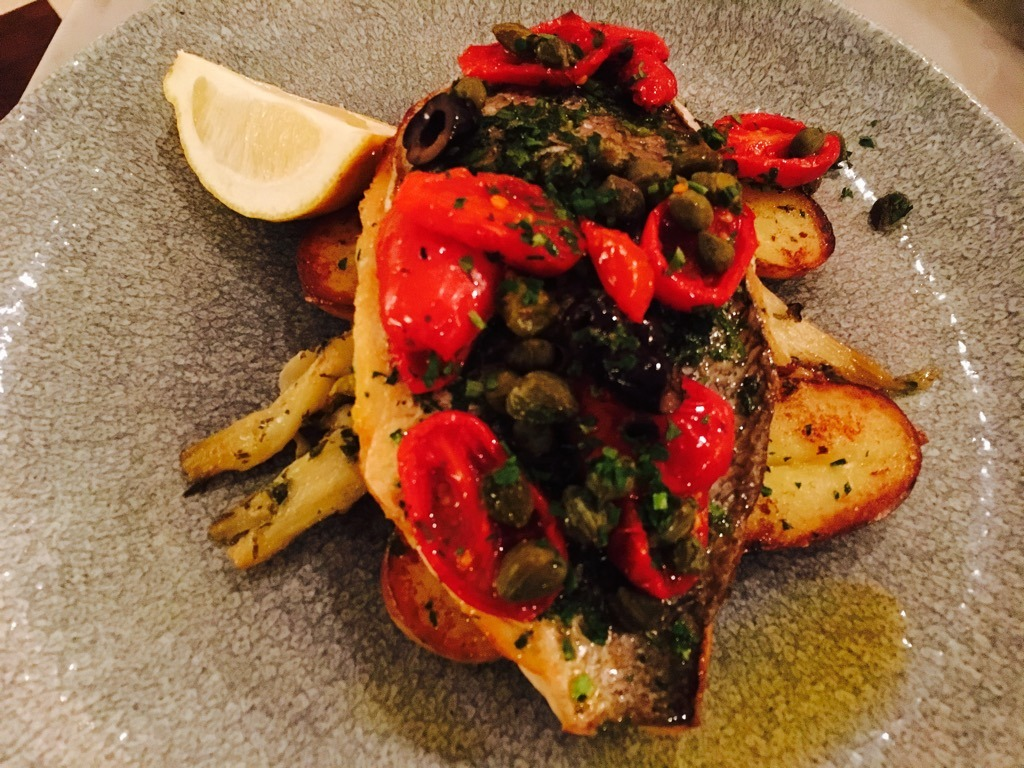 Hotel Indigo sea bream - Theo's Simple Italian Kensington