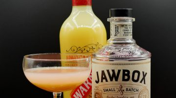 Rhubarb and Custard Cocktail with Jawbox Rhubarb and Ginger: