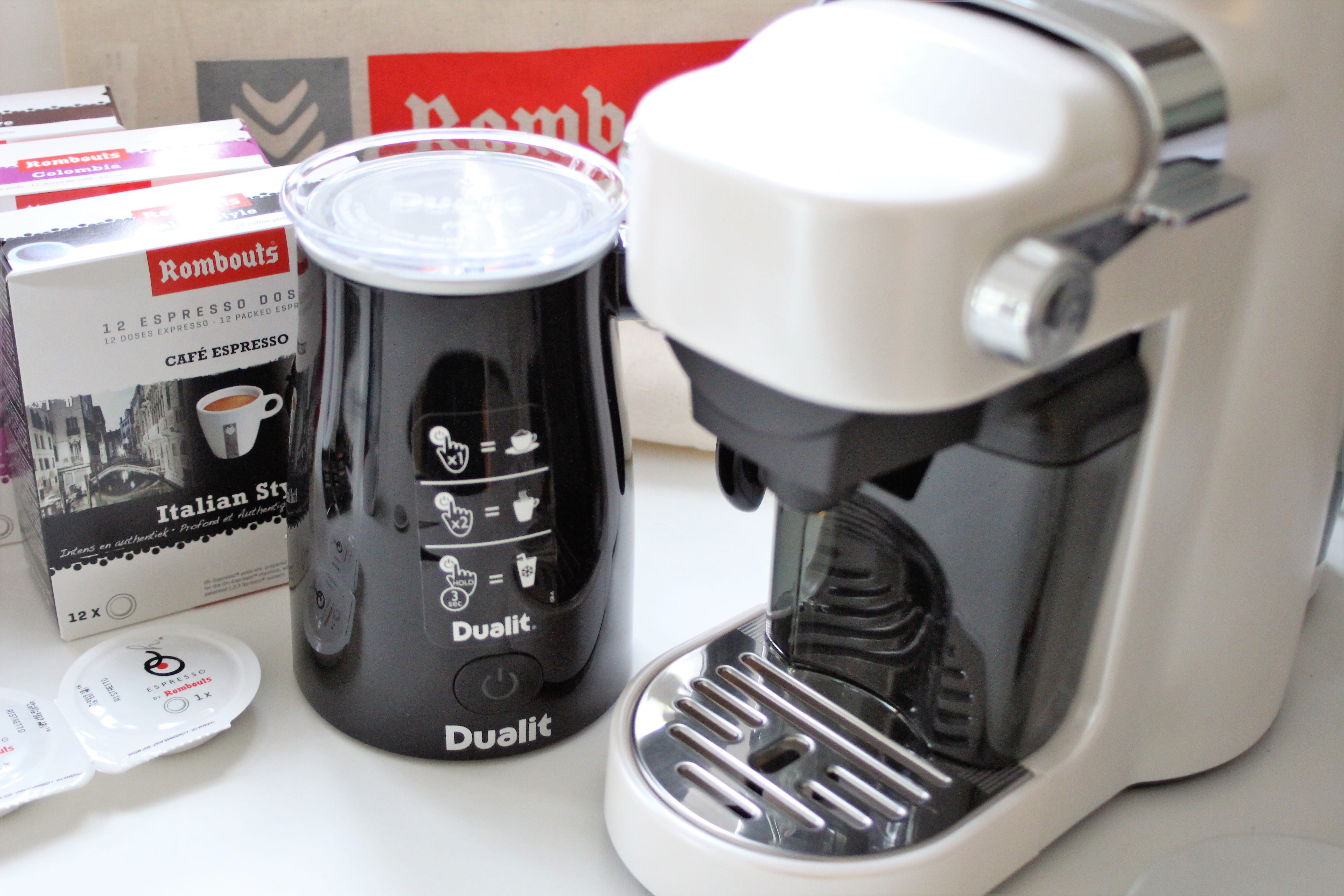Rombouts Xpress'OH and Dualit DMF1