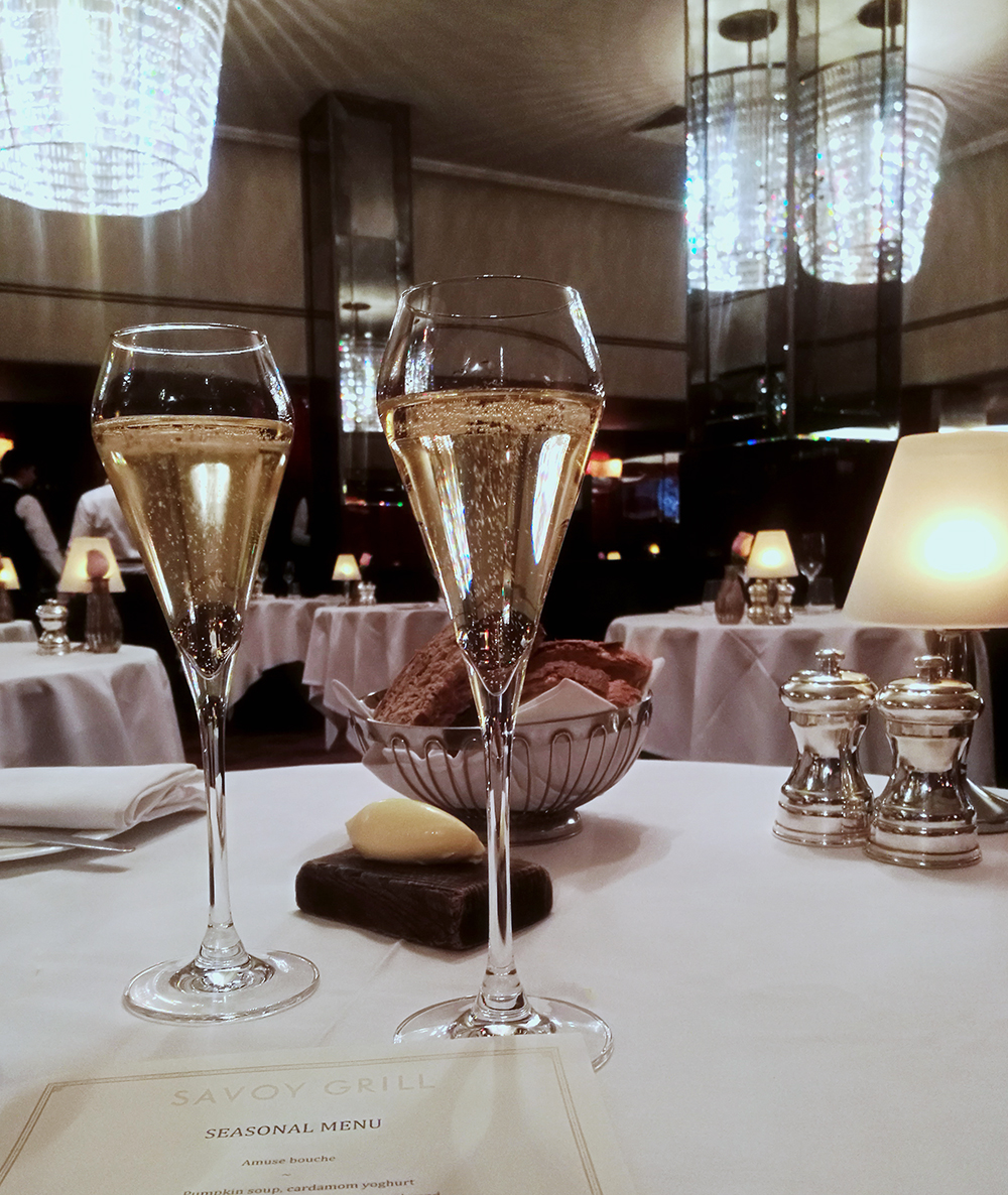 Champagne at the Savoy London