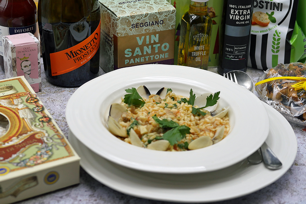 Clam risotto and Cenone Feast
