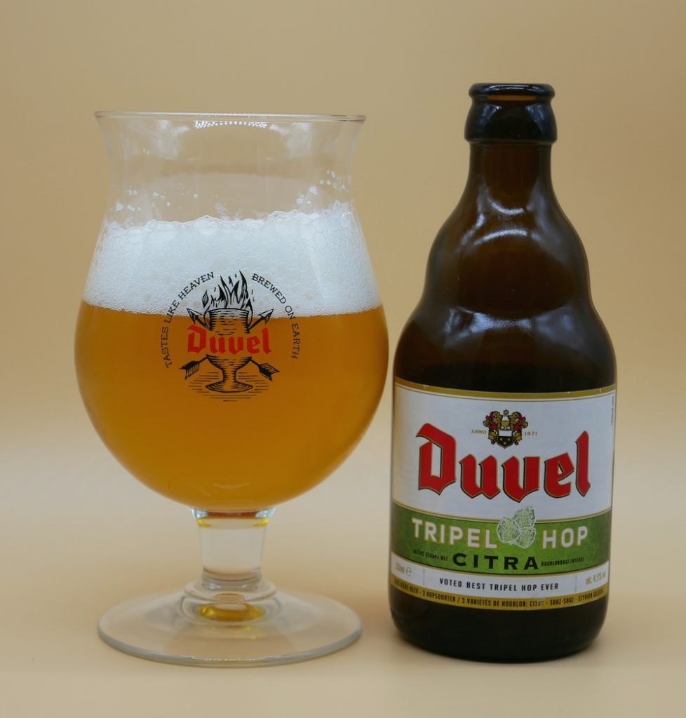 Duvel Citra Beer and glass