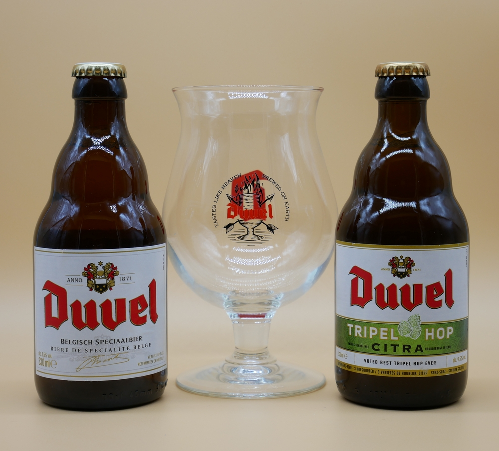 Duvel Beer and glass