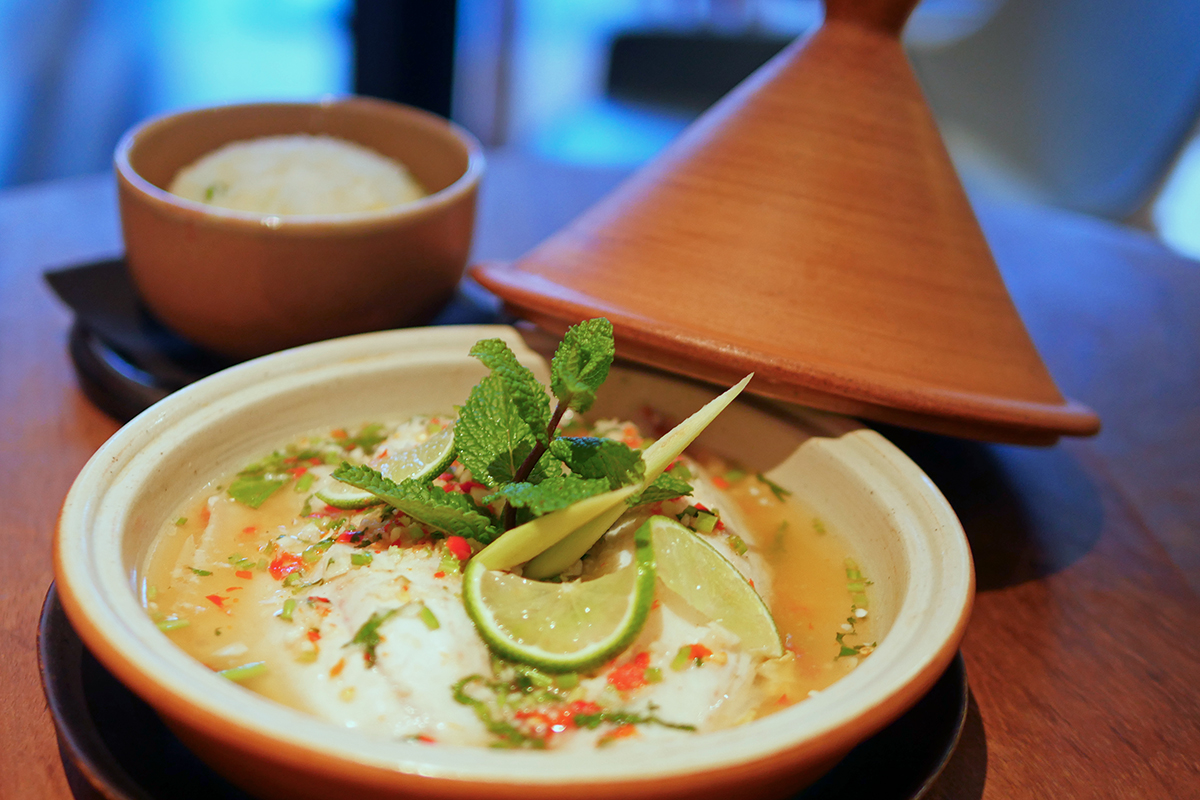 Lime and chilli Seabass - Patara Hampstead Thai Restaurant