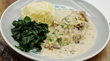 pheasant in white wine sauce
