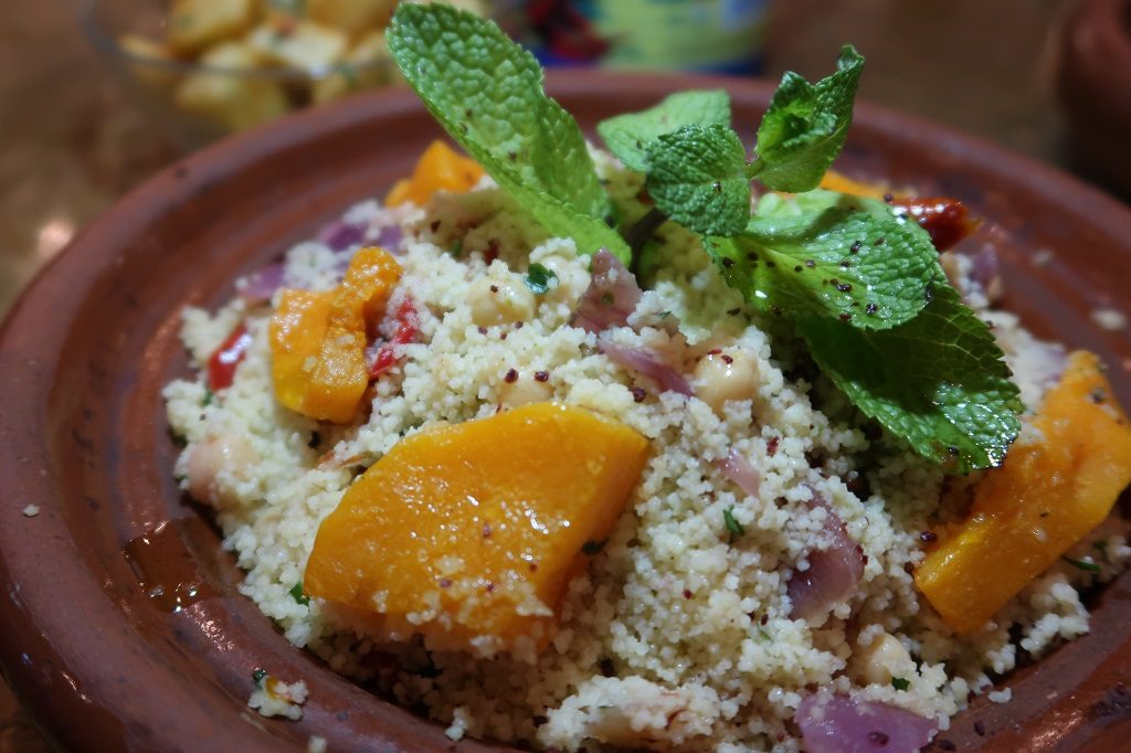 Comptoir Libanais Vegan Couscous Salad with Grilled Peppers, Roasted Squash and Mixed Nuts