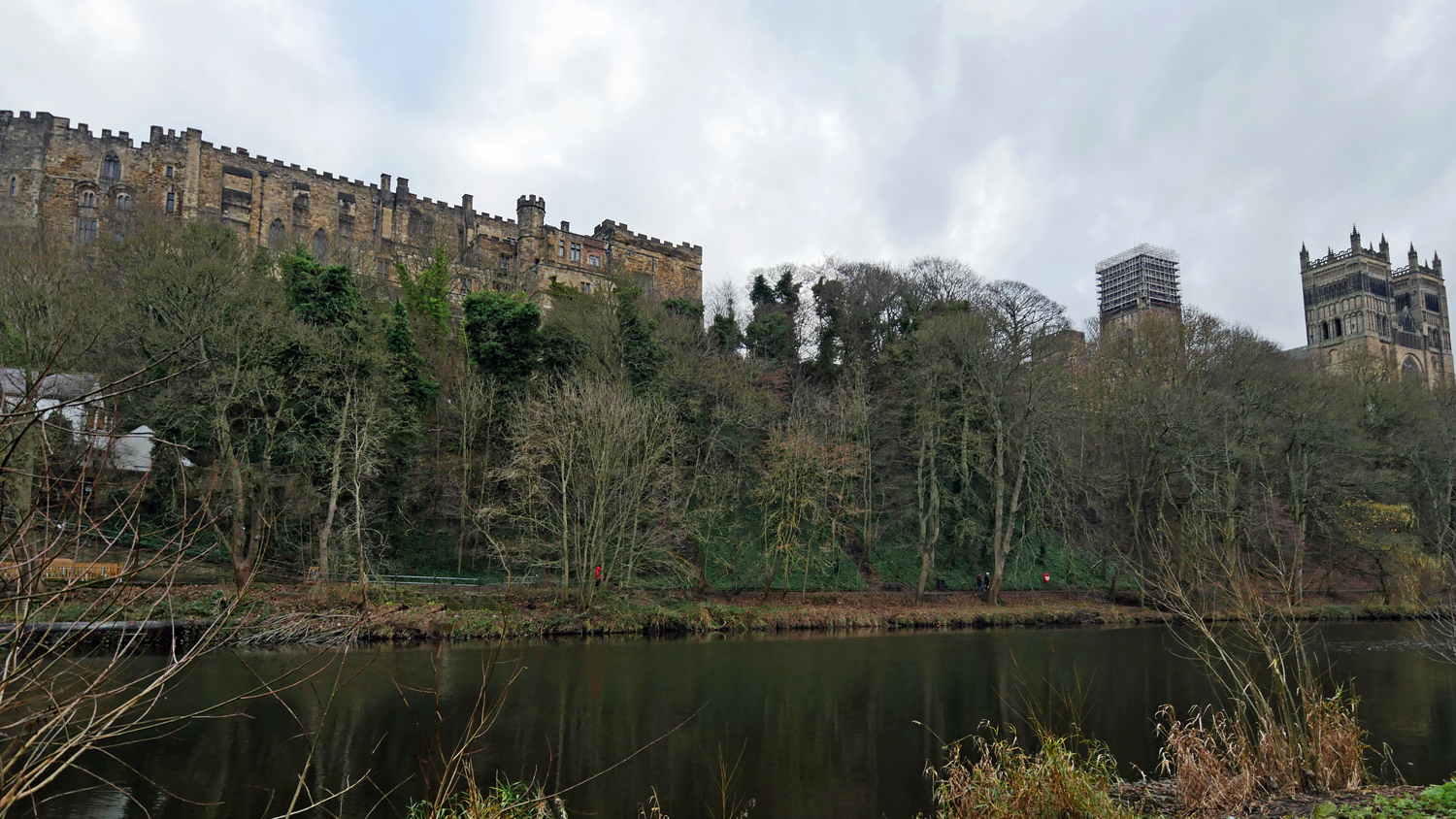 Durham castle and Cathedral from the river