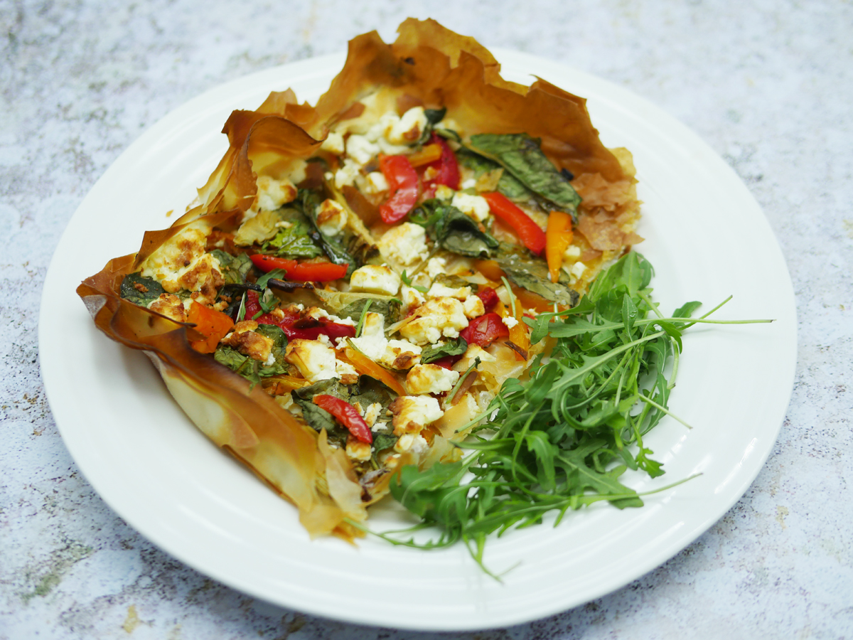 Red Pepper Filo Pie