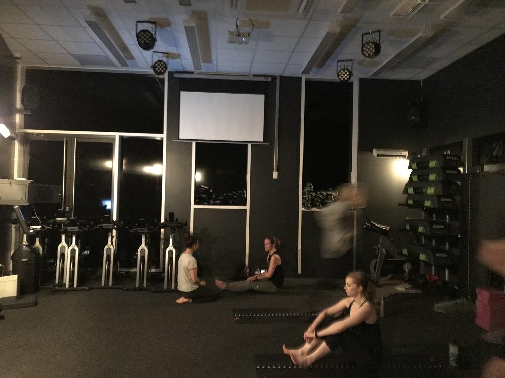 Fitness Space Battersea Studio - preparing for hot yoga