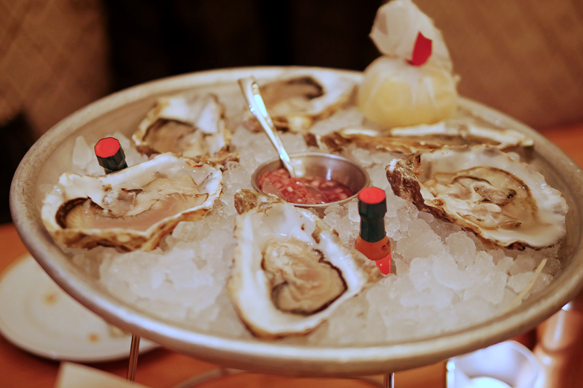 Oysters at Bar Boulud London