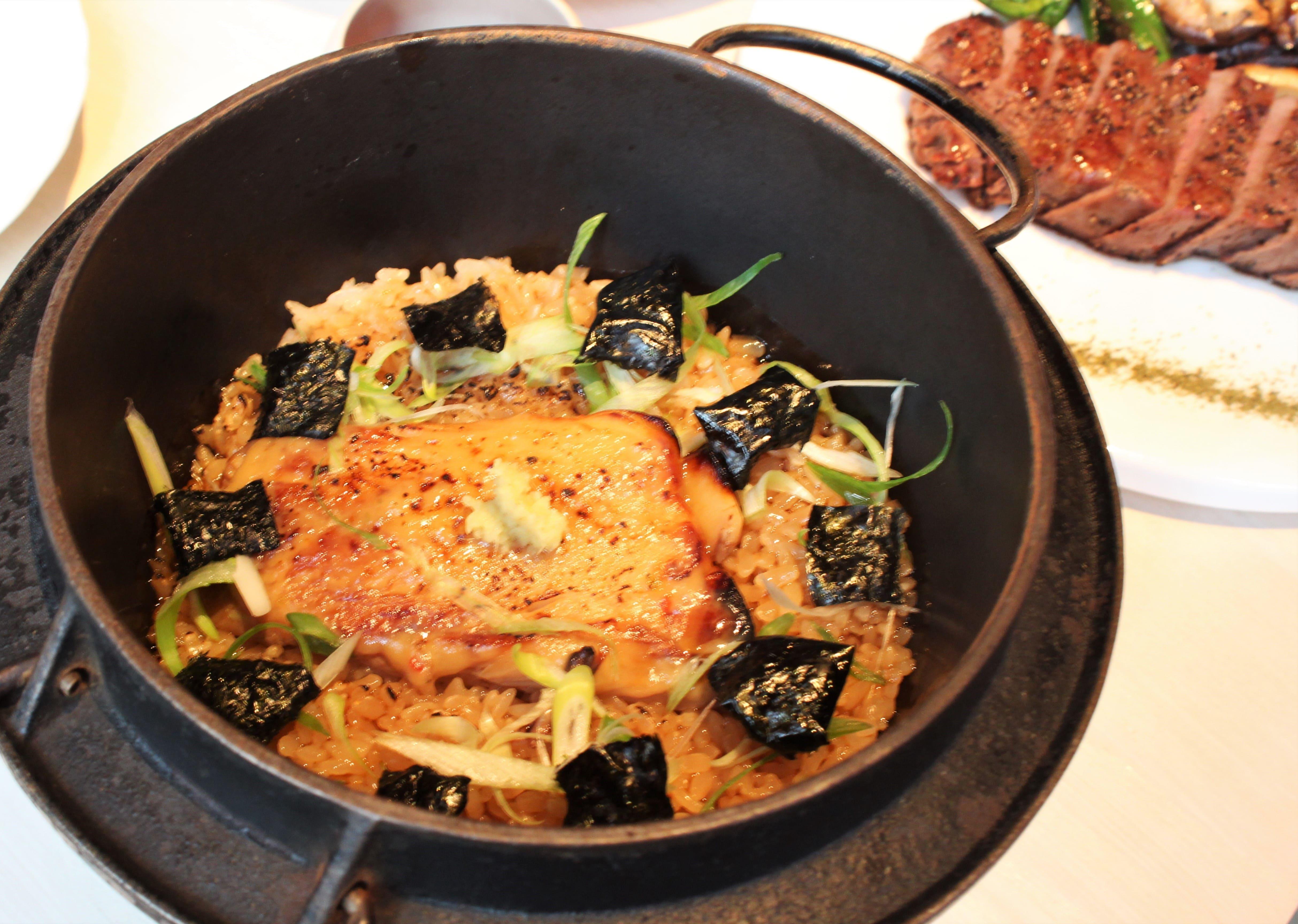 Sake No Hana, Black Cod iron pot rice-min
