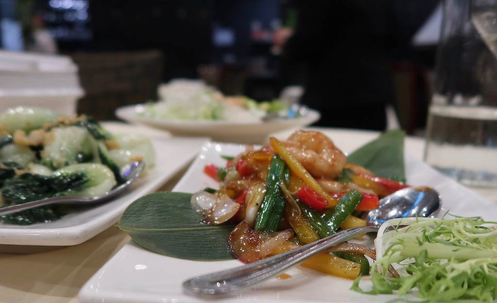 Royal China - Sautéed prawns with honey and black bean