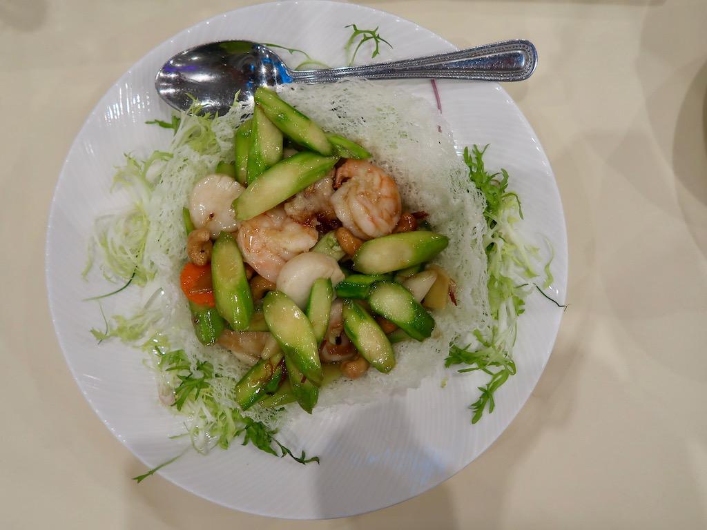 Royal China London -Sautéed seafood in a bird's nest