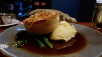 Sir John Balcombe - Sweet potato pie & mash