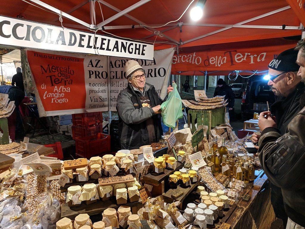 Alba White Truffle Market Stall