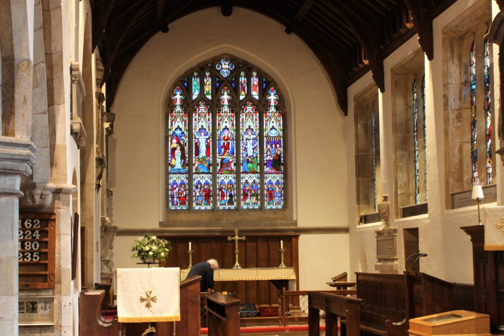 All Saint's babworth interior-