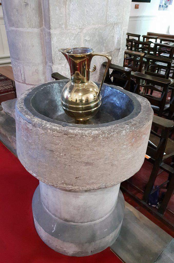 Baptism font, Austerfield