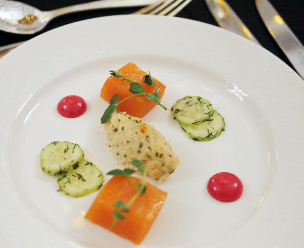 House Cured Scottish Salmon - BAFTA Dinner - Grosvenor House Hotel