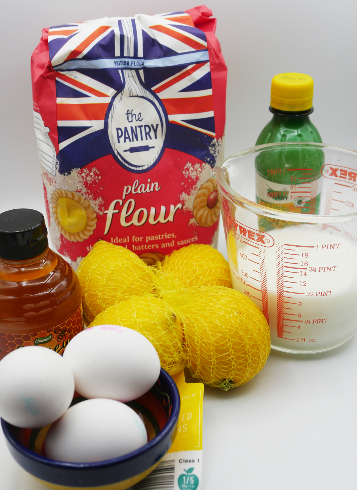 Pancake ingredients for one or two