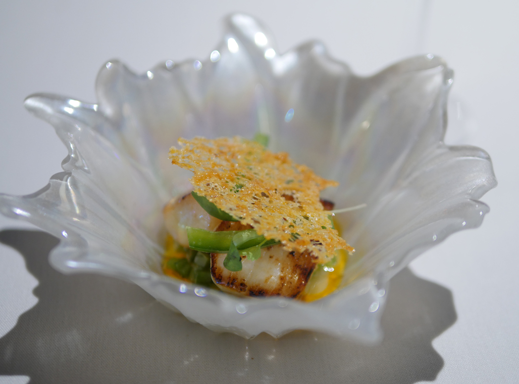 Scallop Taco - Boringdon Hall - Scott Paton