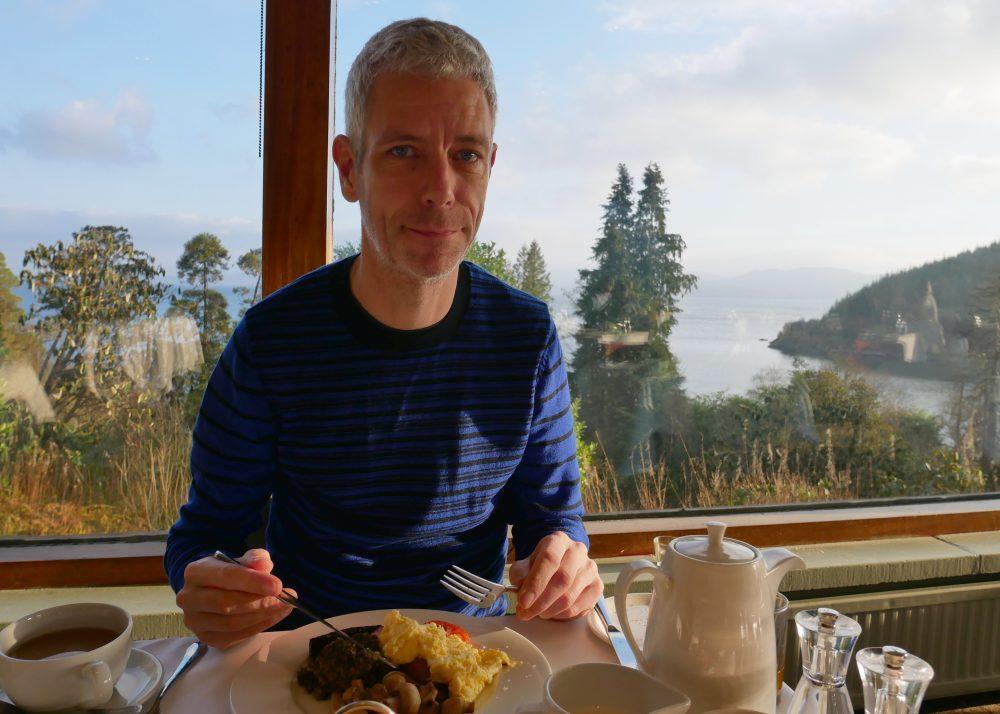 Stonefield Castle - full Scottish breakfast