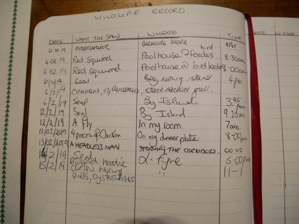 Stonefield Castle - wildlife record