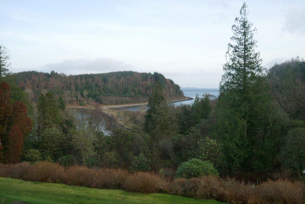 Stonefield Castle - view across Loch Fyne