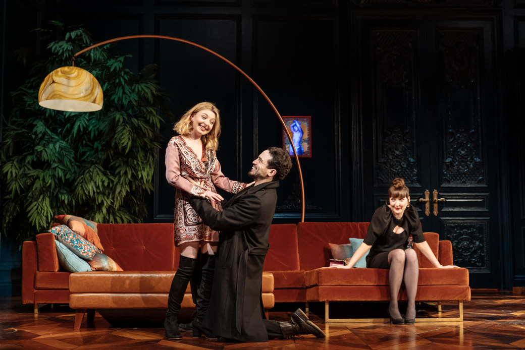 Review - Tartuffe at the National Theatre - 2019. Kitty Archer, Geoffrey Lumb,Kathy Kiera Clarke in Tartuffe by Molière in a new version by John Donnelly. Image by Manuel Harlan