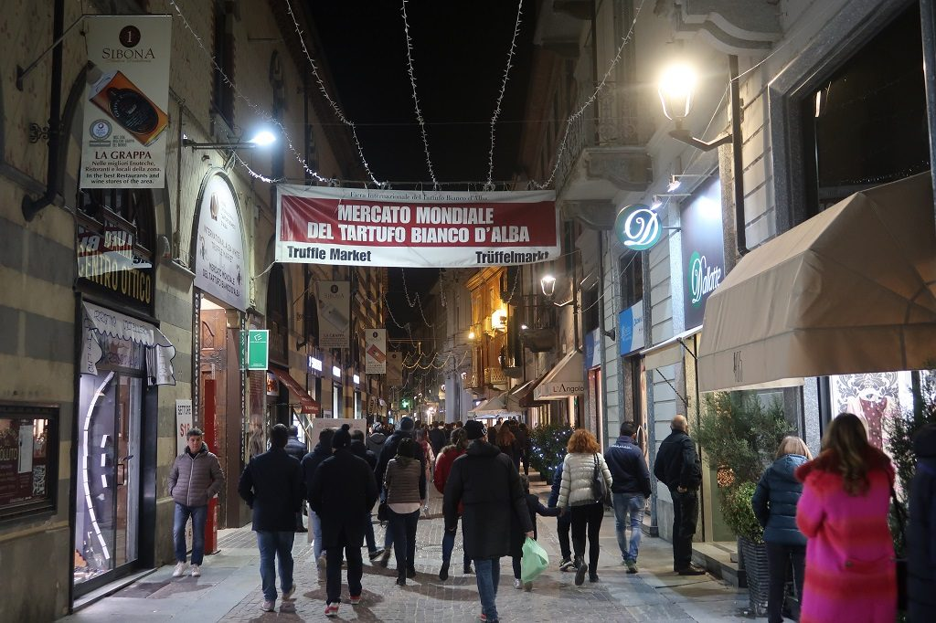 The International Alba White Truffle Fair Streets