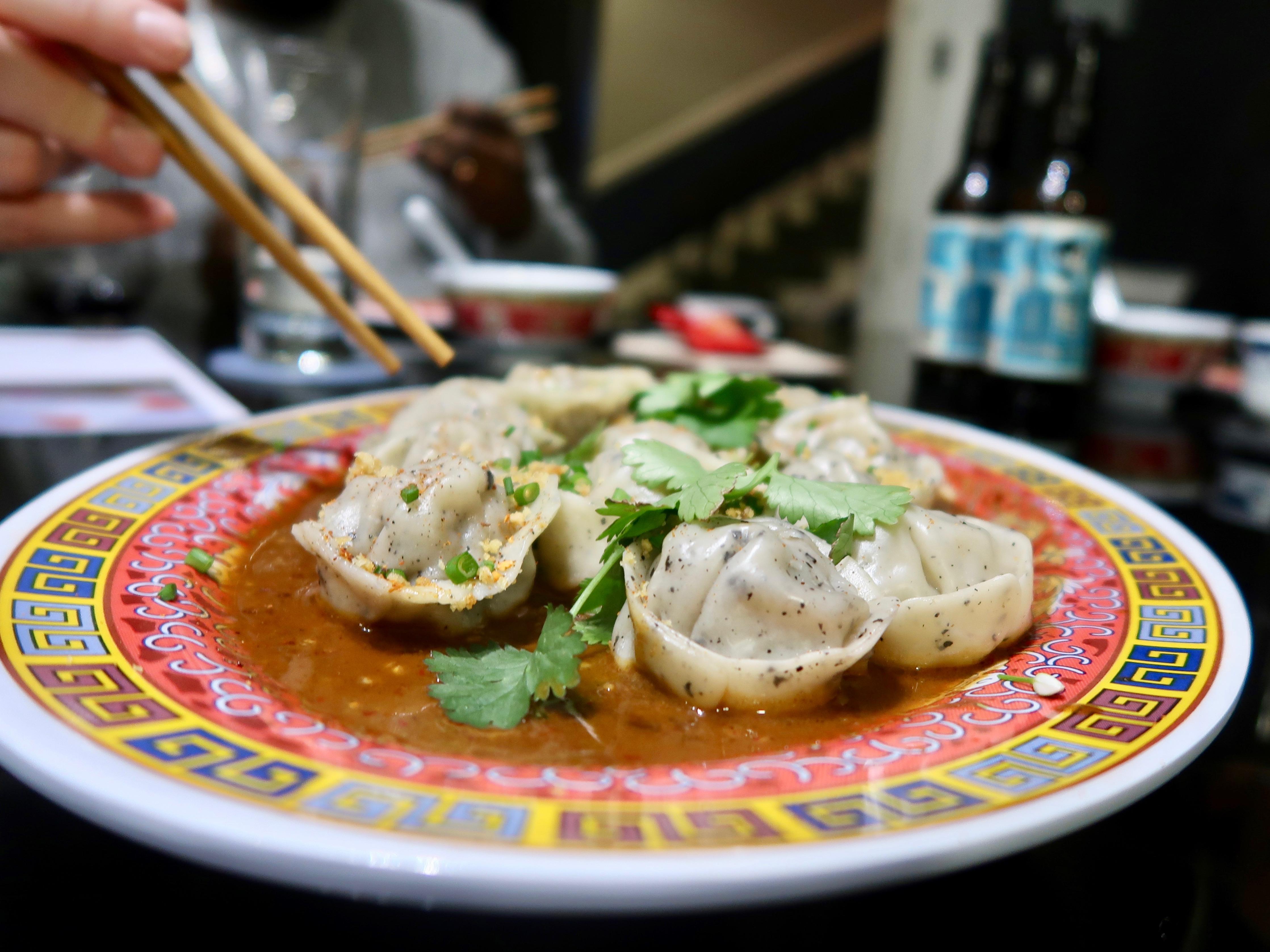 Wing Yip dan dan dumplings