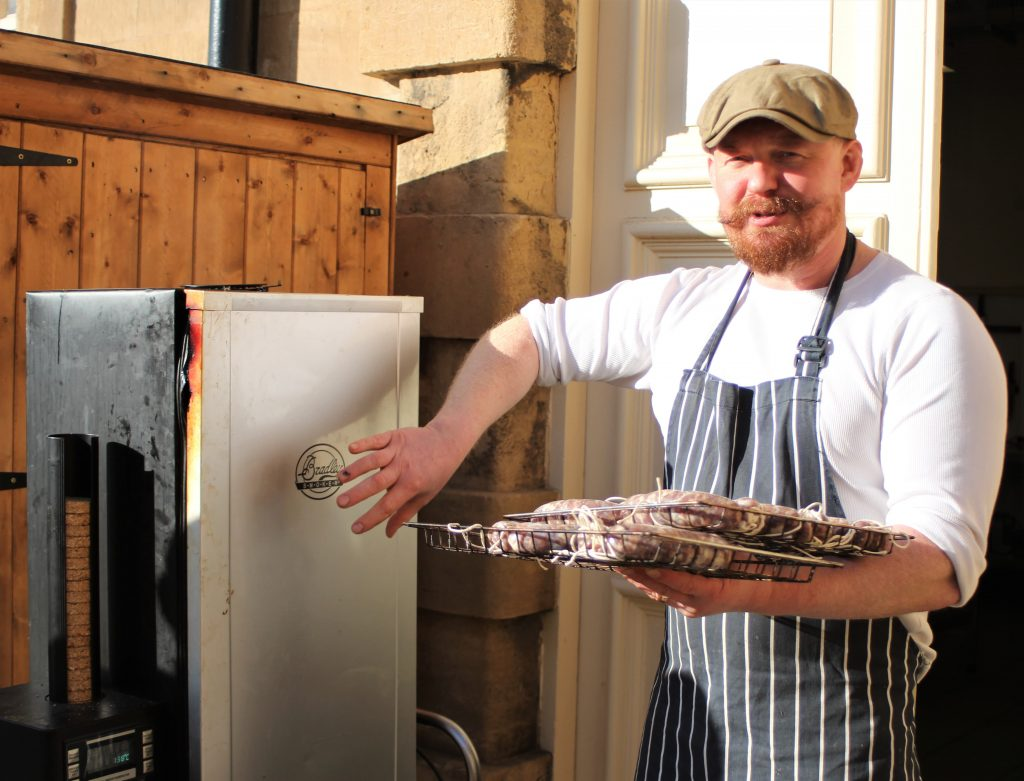 Hot smoking sausages, School of Artisan Food - heritage British cookery