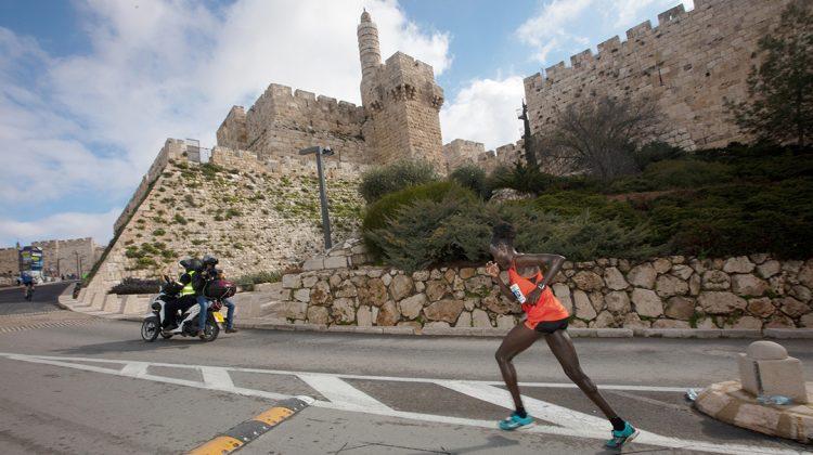 Elite runners for the Jerusalem Marathon photo credit Ingo Kutsche