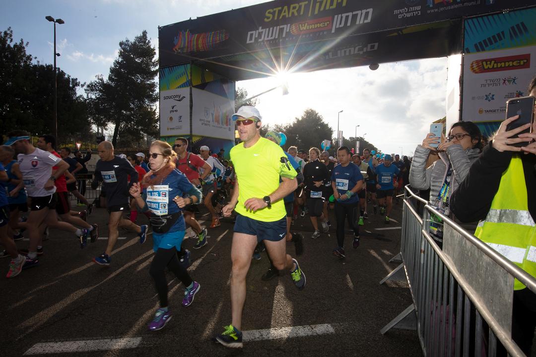 Jerusalem Marathon - Start - Photo credit Ingo Kutsche