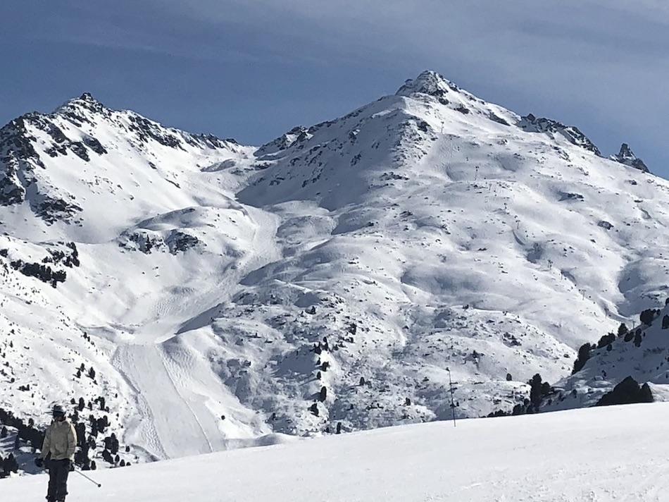 Mont du Vallon from the Sitelle restaurant Méribel Tarentaise France