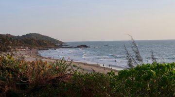 Vagator beach view from W Goa Rock Pool