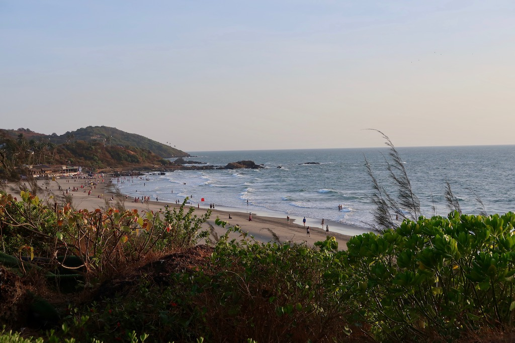 Vagator beach view from W Goa Rock Pool