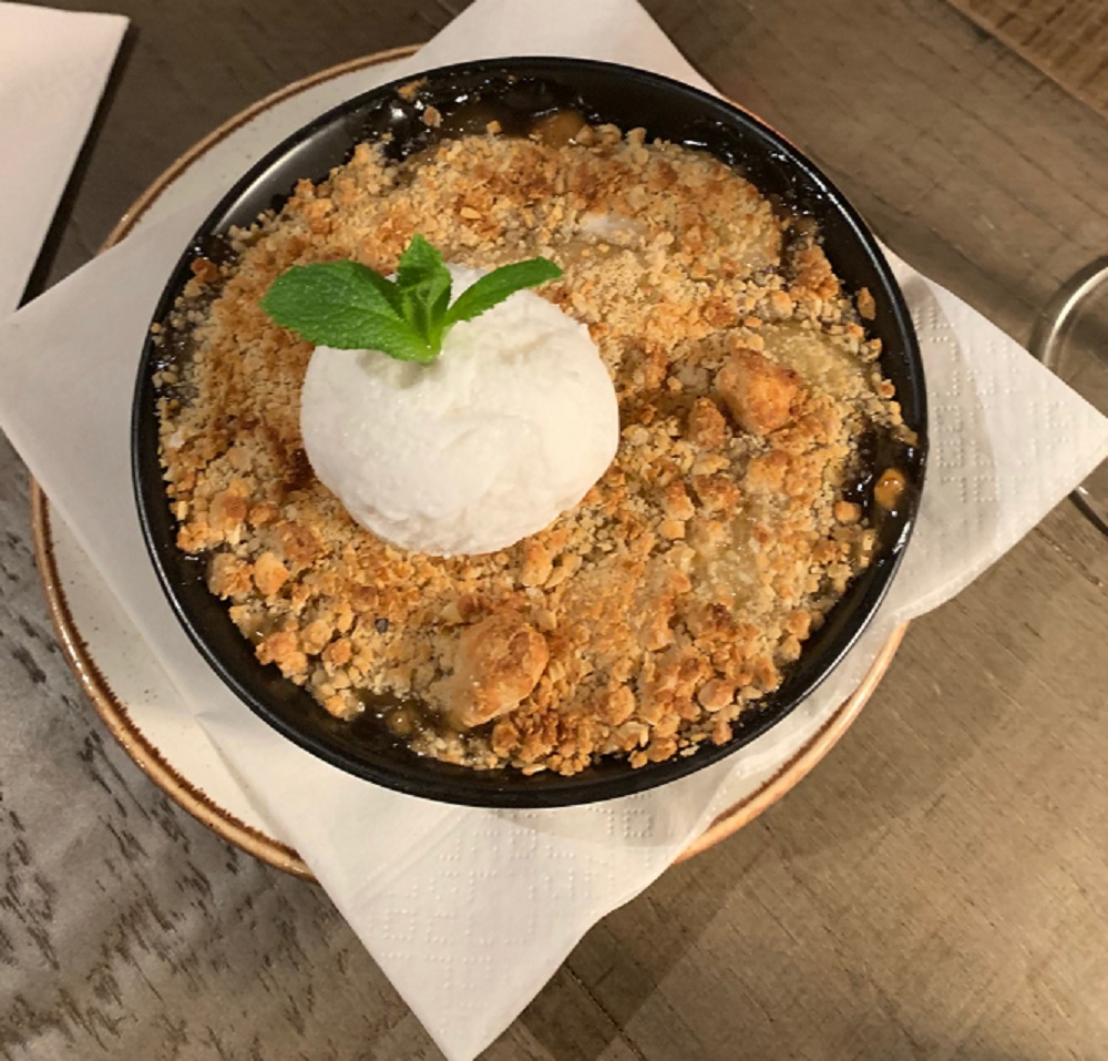 Bar +Block Apple Crumble
