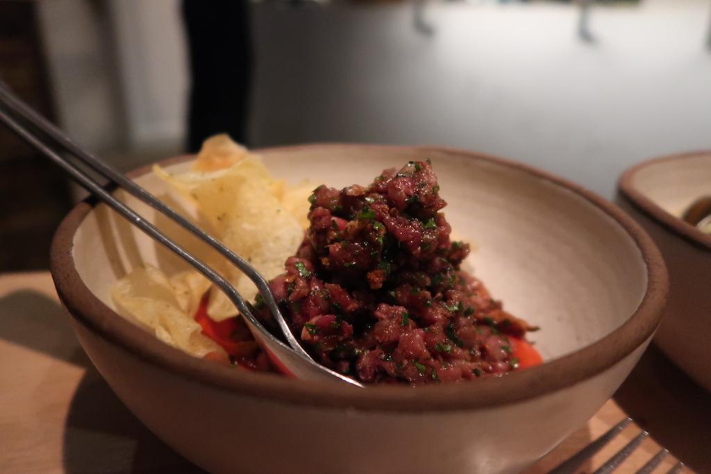 Beef tartar – 'Soutzoukaki' Meraki Bar