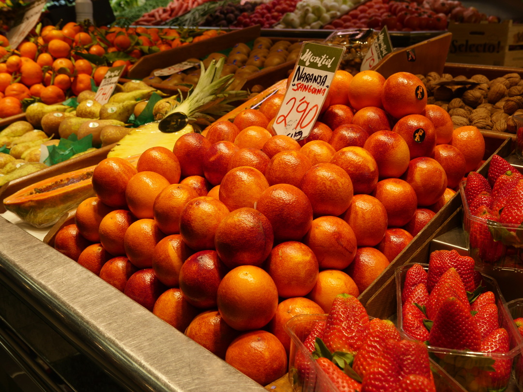 Blood oranges Mercat de l'Olivar