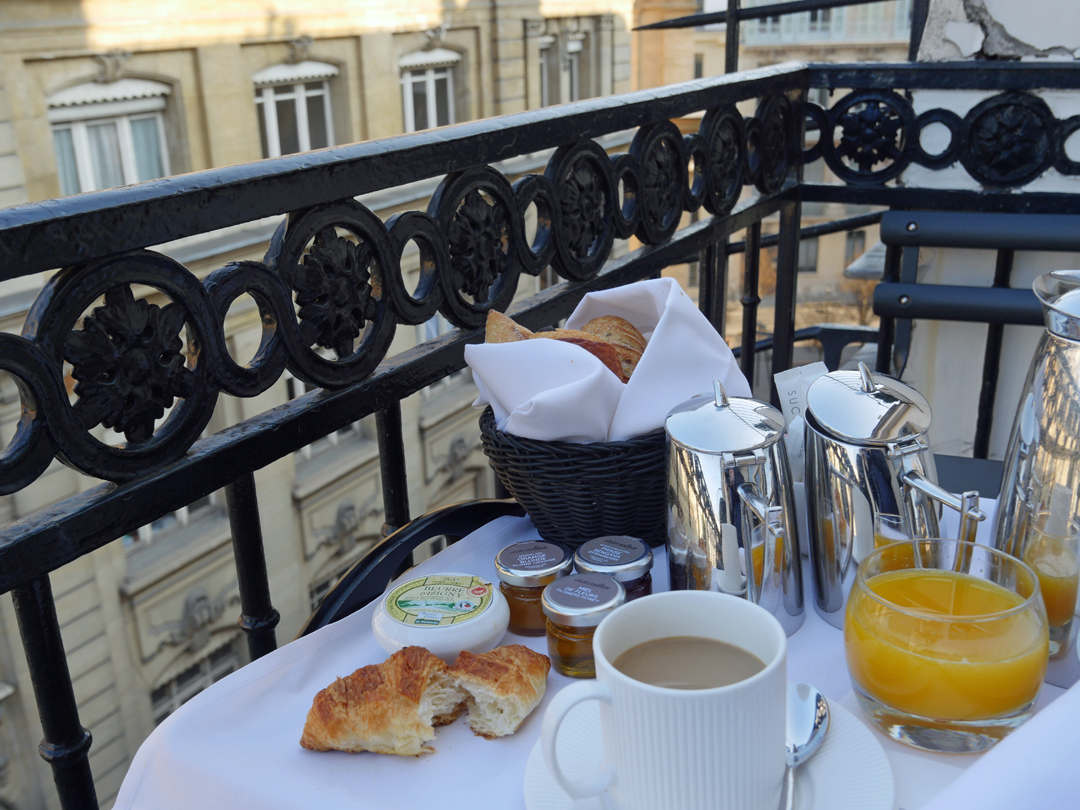 Breakfast on the Balcony Paris