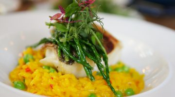 Cod with Saffron Risotto - Bernardis Marylebone