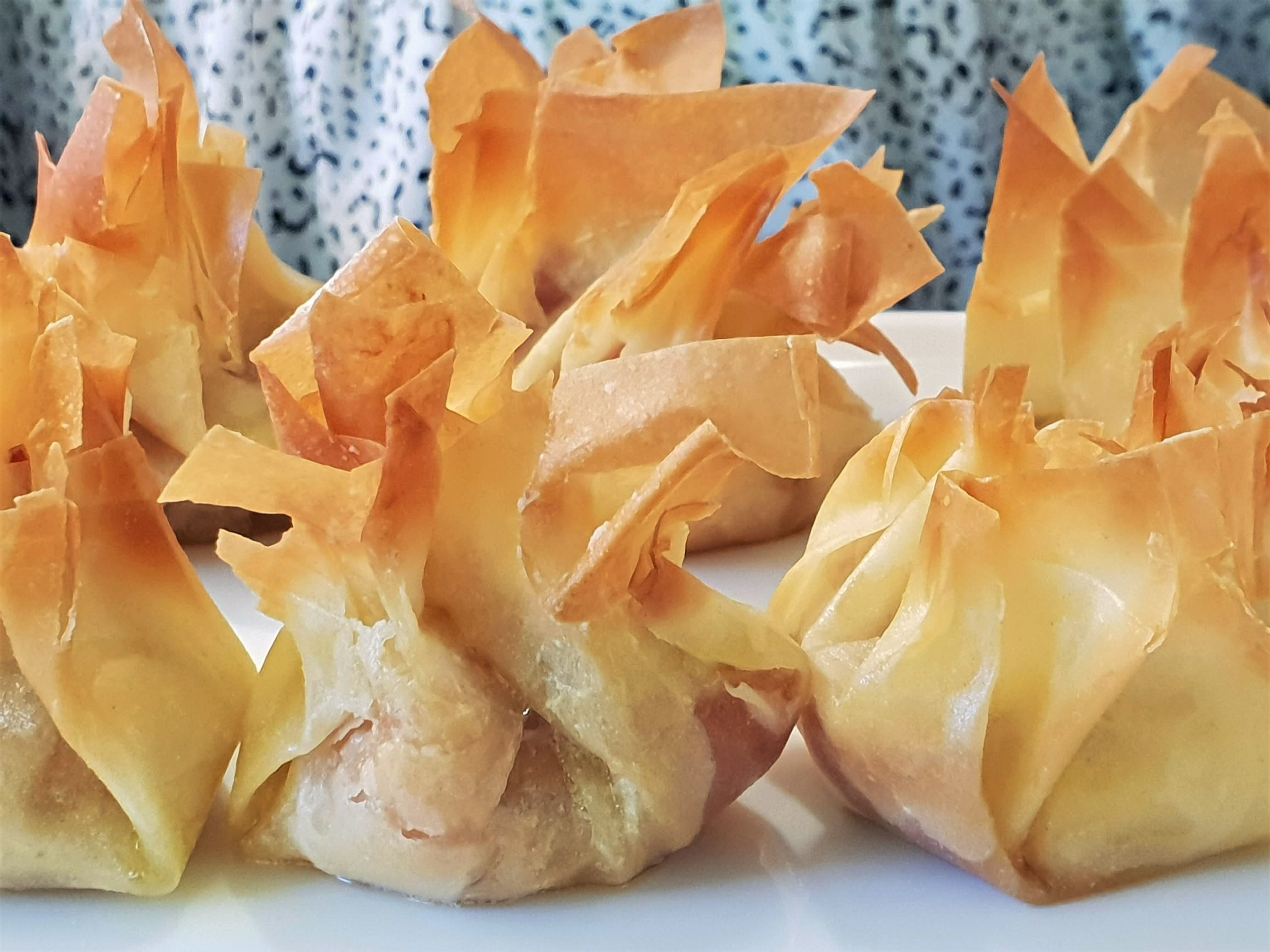 Comte and prosciutto filo parcels, Comte Cheese cookery class-