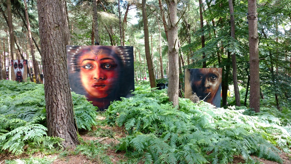 Art in the woods of Suffolk