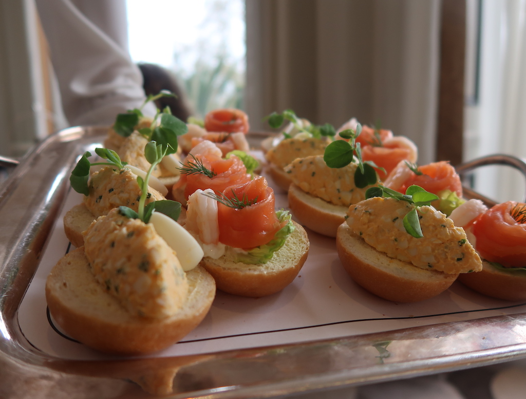 Open sandwiches - The Park Room, Grosvenor House - buyagift afternoon tea