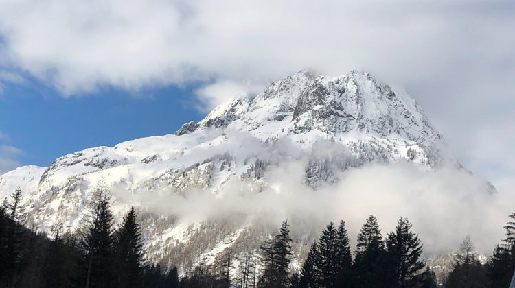 Mountain in the snow Vallorcine Chamonix Mont-Blanc France