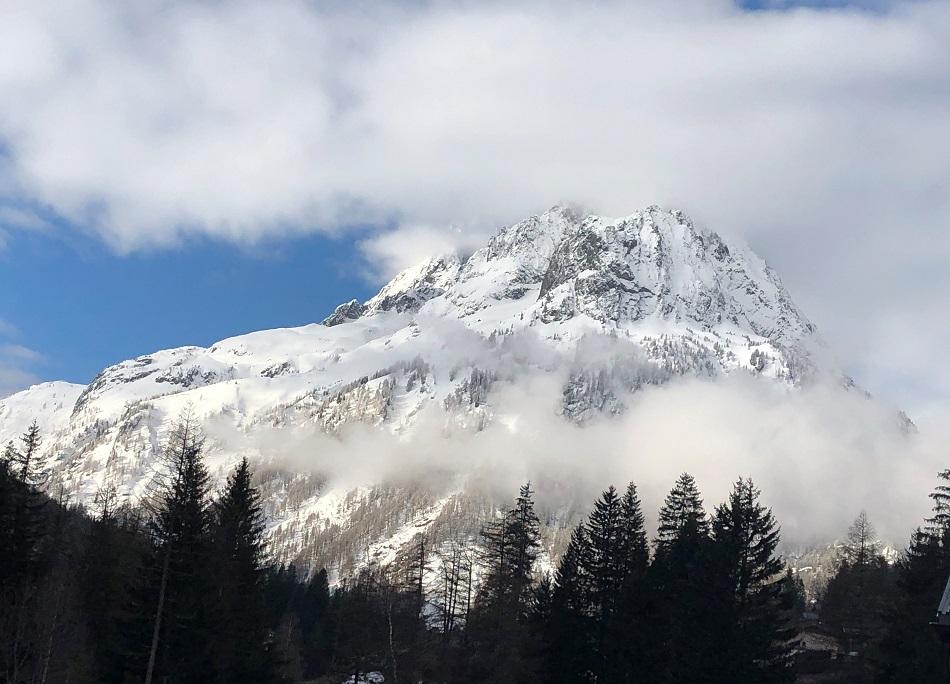Mountain in the snow Vallorcine Chamonix Mont-Blanc France