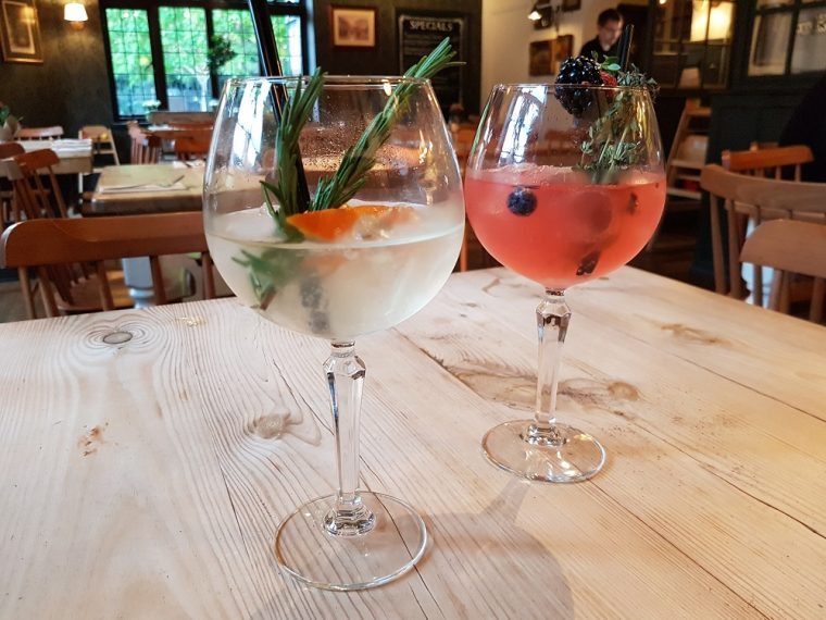 gin with infusions at the Royal Windsor pub