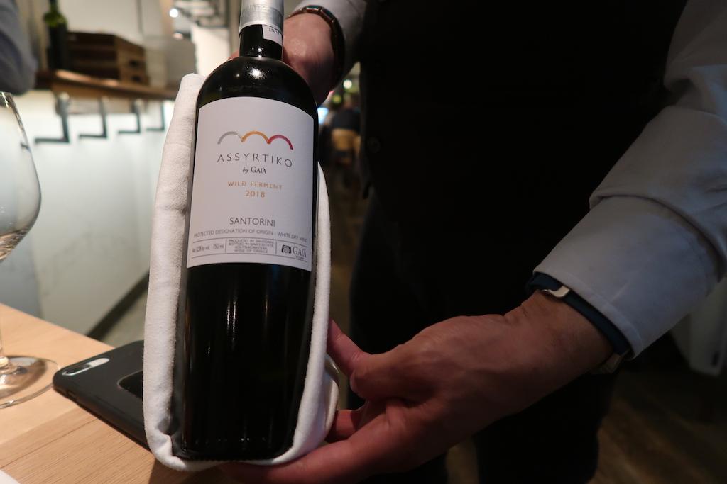 Wild Ferment Assyrytiko wine _ Meraki Bar