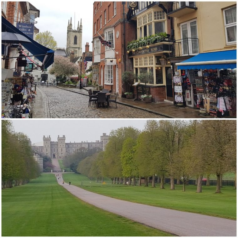 Windsor town centre and Windsor Great Park